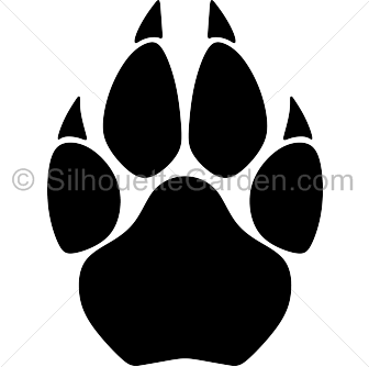 Cougar paw print clip. Drawing messi silhouette png royalty free stock