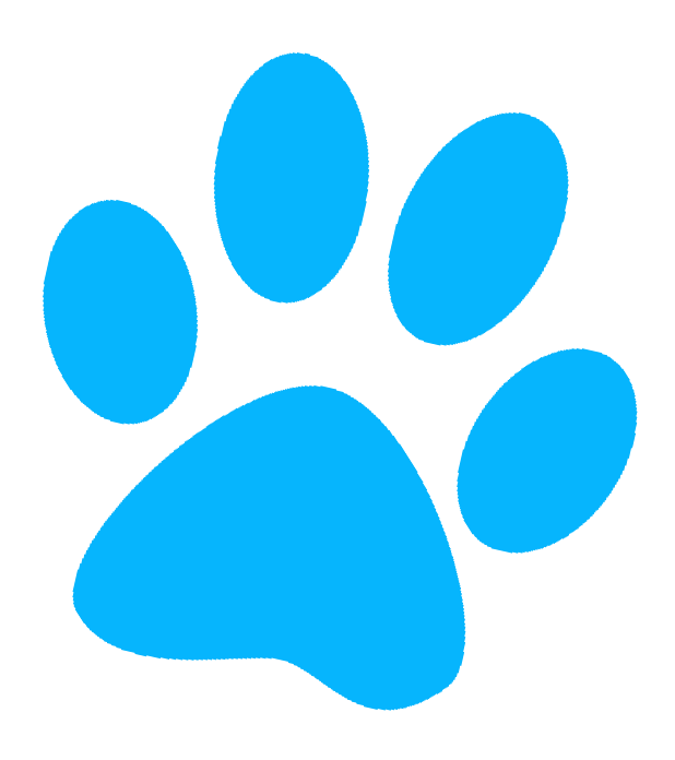 Paws clipart. Blue library clip art