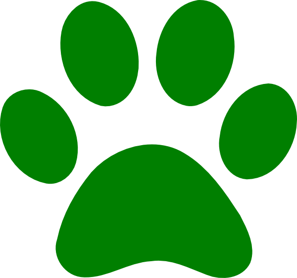 Paws clipart. Green