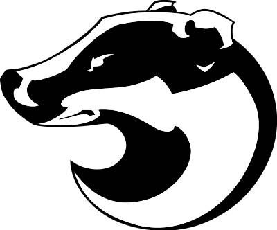 Paws clipart badger. Honey silhouette at getdrawings