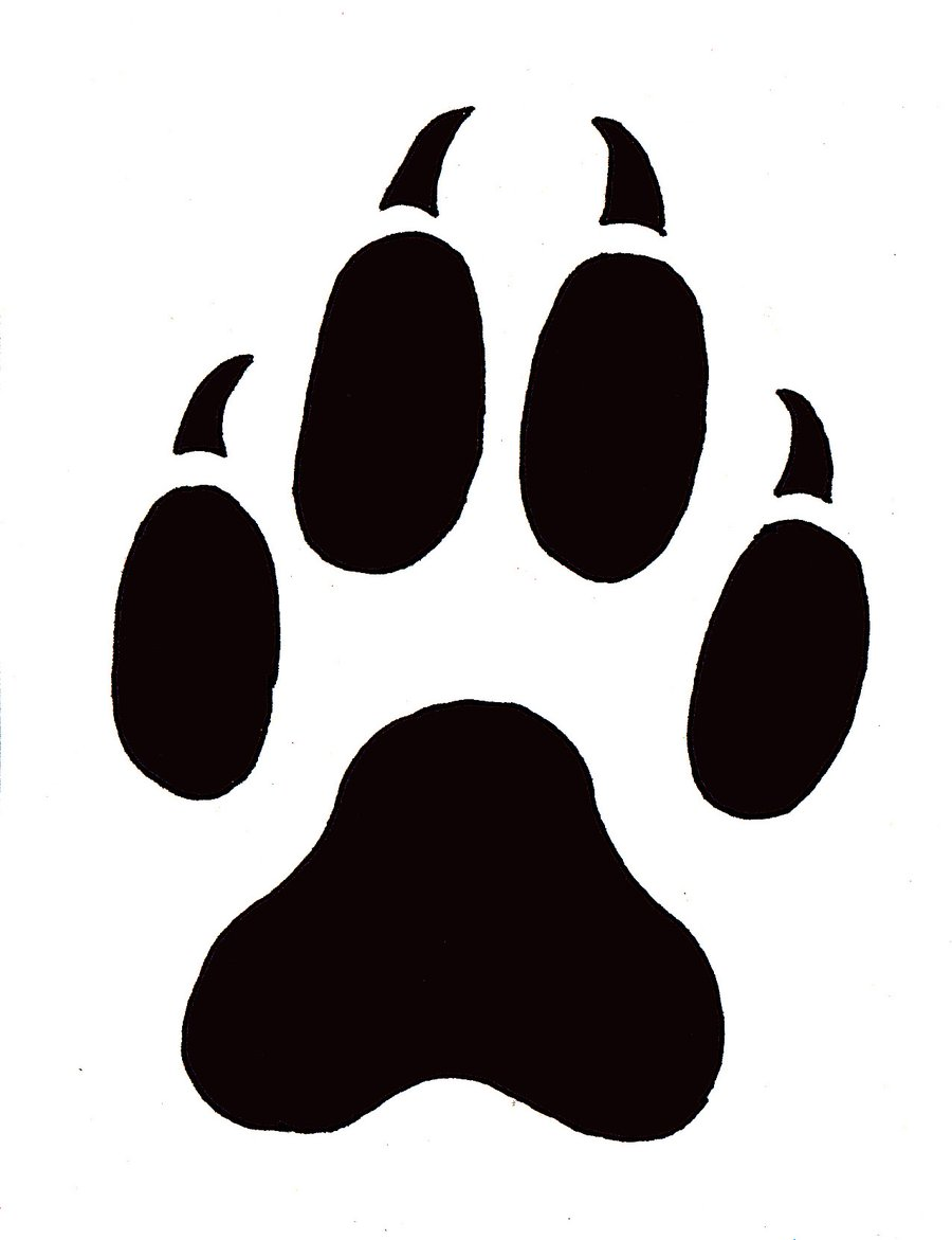 Paws clipart badger. Paw prints