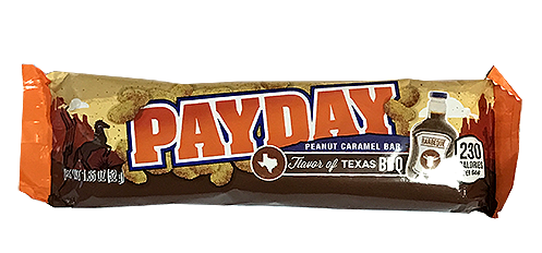 Payday candy bar png. Texans love of barbecue