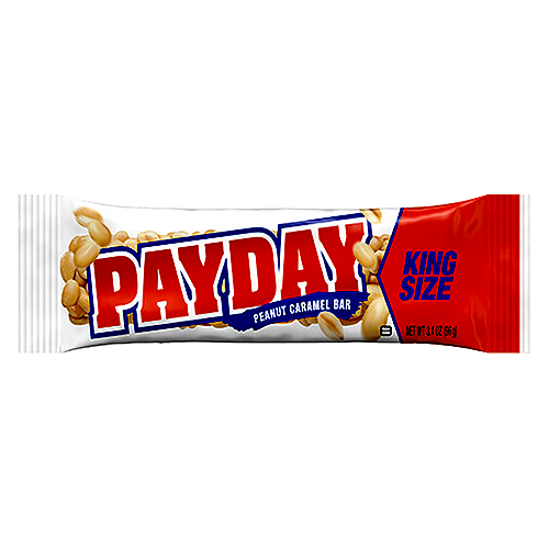 Payday candy bar png. Peanut caramel king size