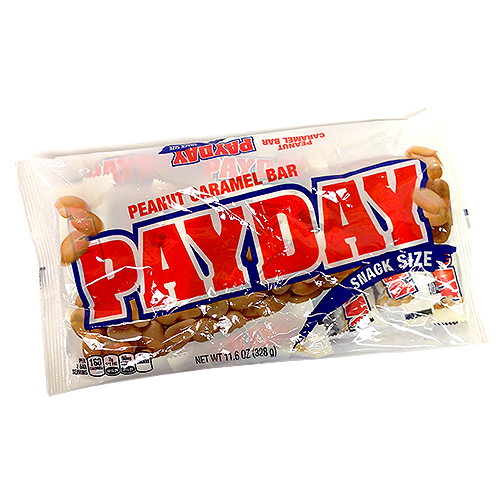 Payday candy bar png. Peanut caramel snack size