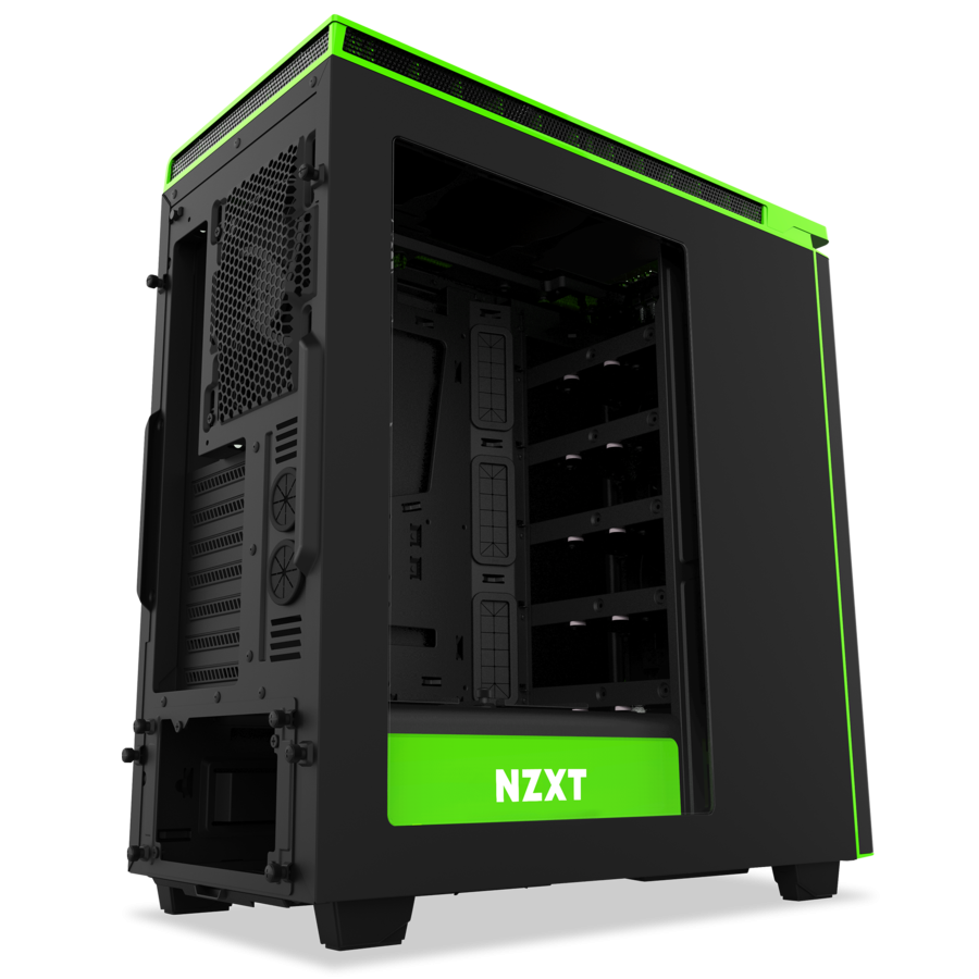 Pc case png. Nzxt h black and