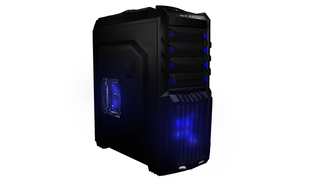 Pc case png. D cgtrader model