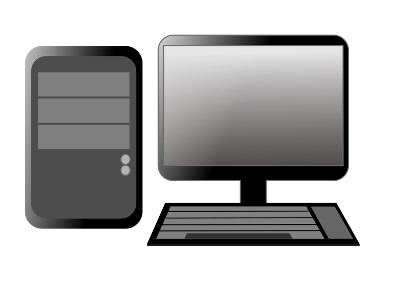 Desktop pc . Computer clipart banner library download
