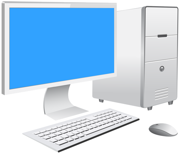 Computer clip art png. Pc set transparent image