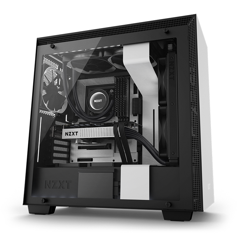 Pc clipart computer setup. Nzxt gaming hardware cases