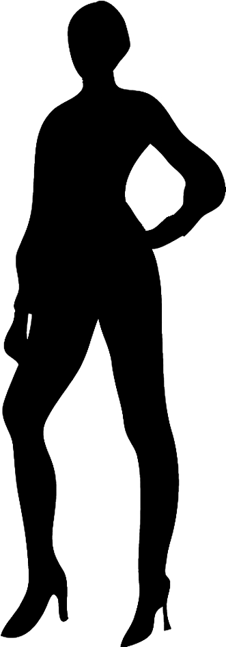 Business people silhouette png. Silhouettes of clipart slender
