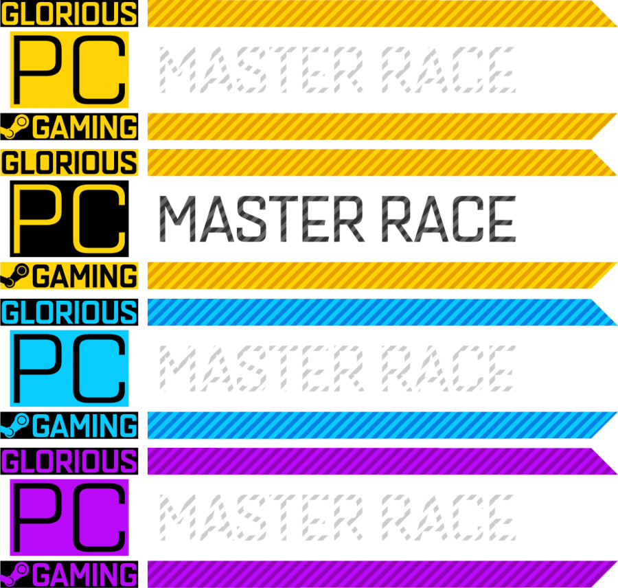 Pc master race icon png. Glorious gaming banners by