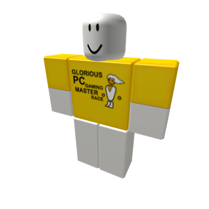 Pc master race icon png. Gaming shirt roblox