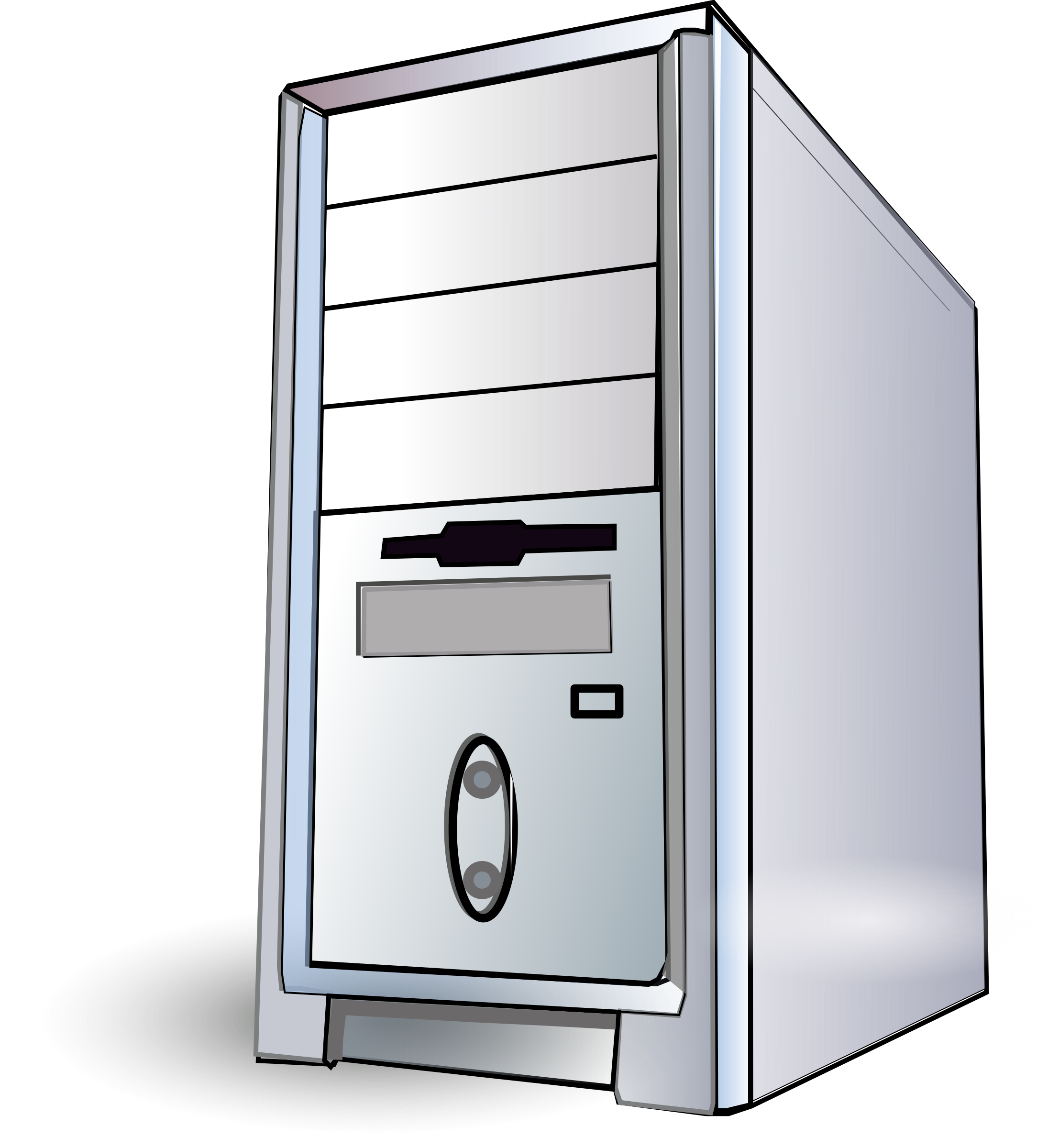 Computers drawing computer tower. Pc box icons png