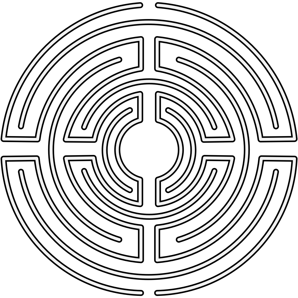 Pdf maze. Labyrinth traceable heraldic art