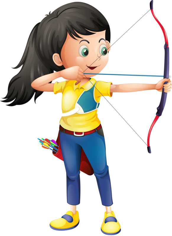 Archery clipart athletics game. Pe sports little