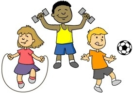 Pe clipart childrens. Physical education for kids