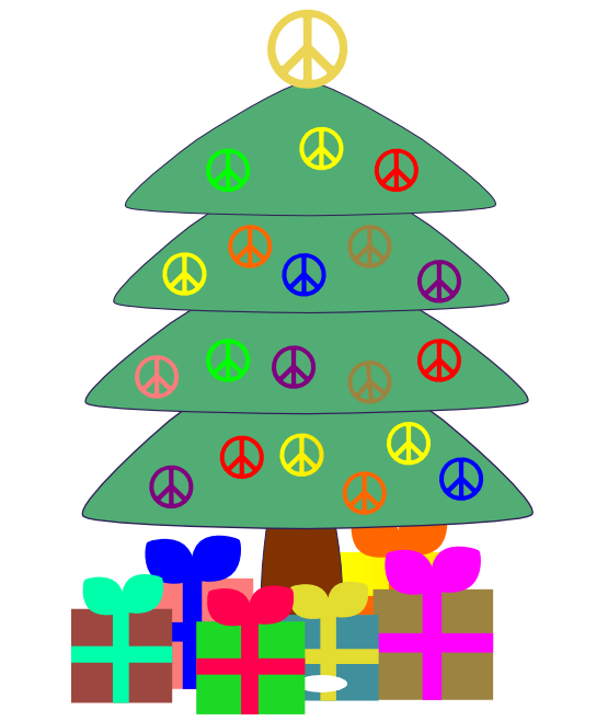 Peace clipart christmas. Free