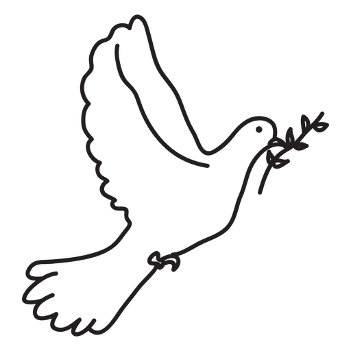 Vector doves svg. Peace dove symbol transparent