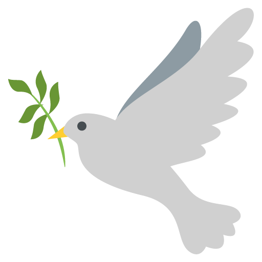 Peace emoji png. Dove of for facebook