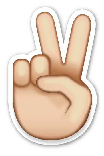 Peace sign emoji png. Victory hand pinterest stickers