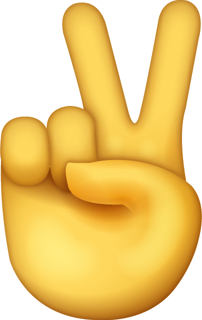 Peace sign emoji png. Download victory hand iphone