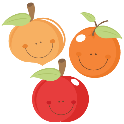 vector fruits cut