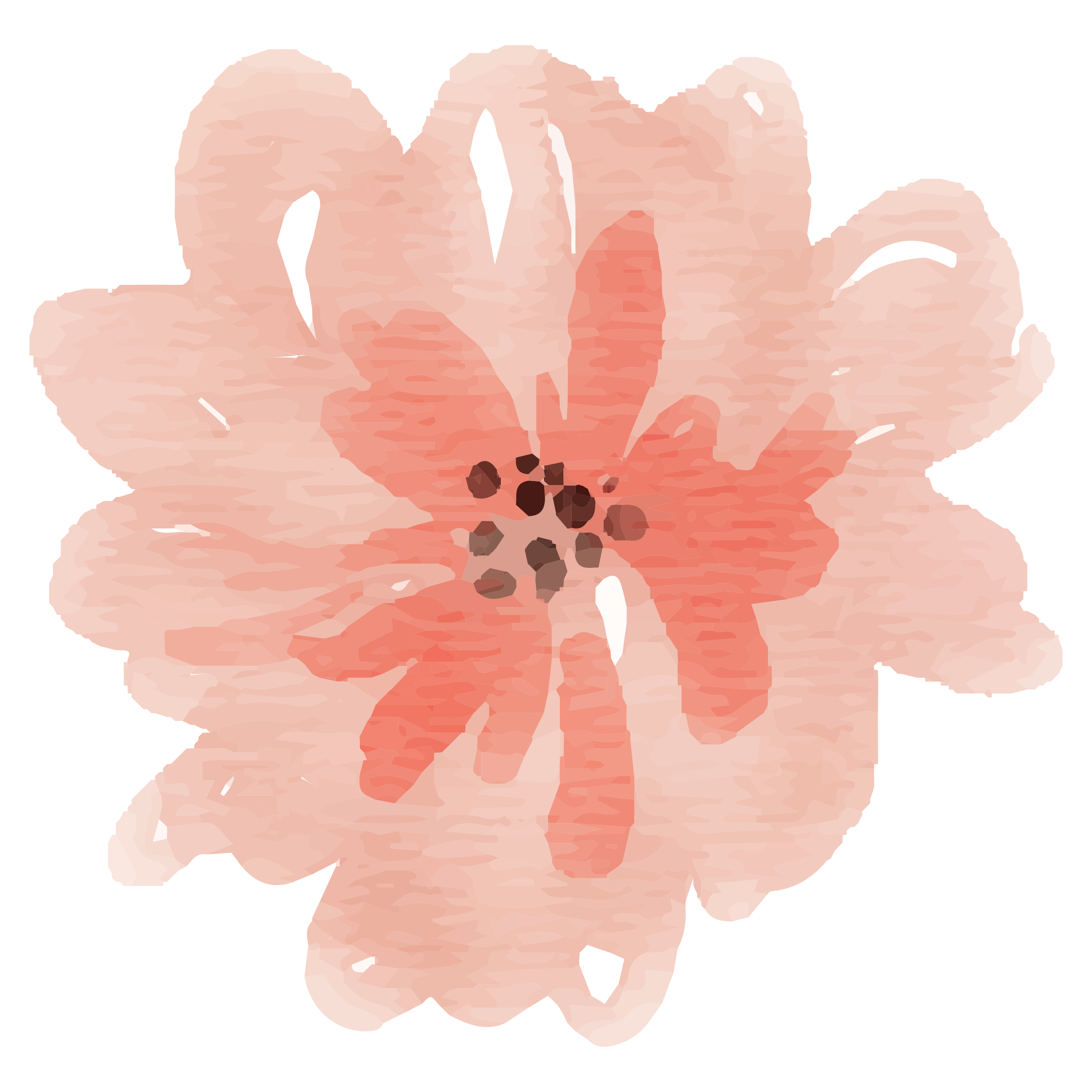 Peach flower png. Free watercolor images delight