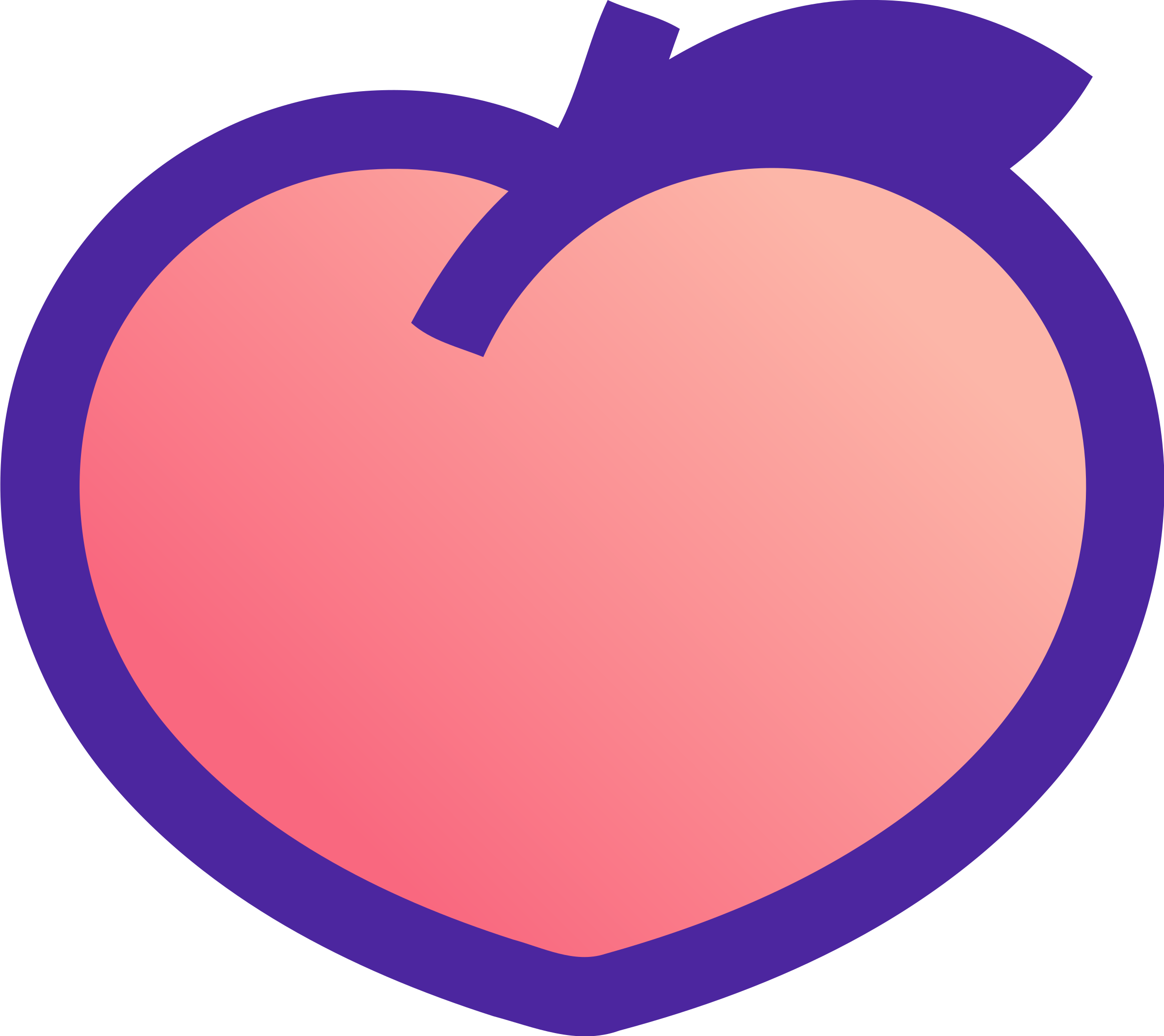 Peach svg logo. Png transparent vector freebie
