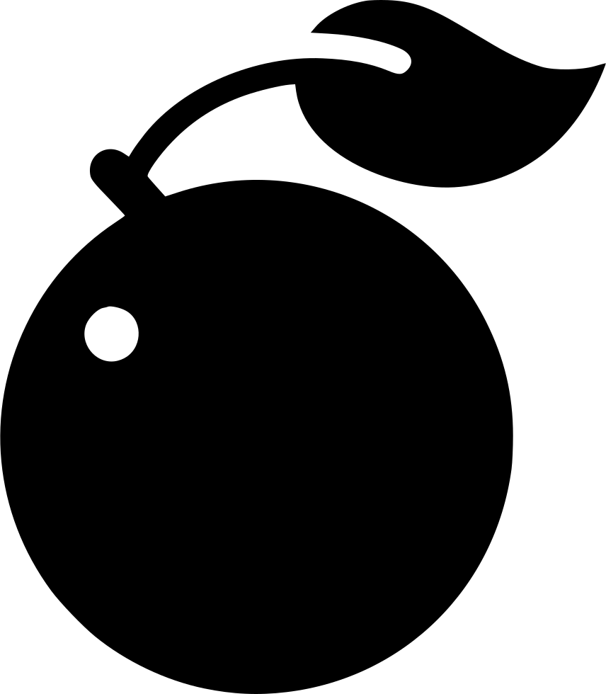 Peach svg vector black white. Png icon free download