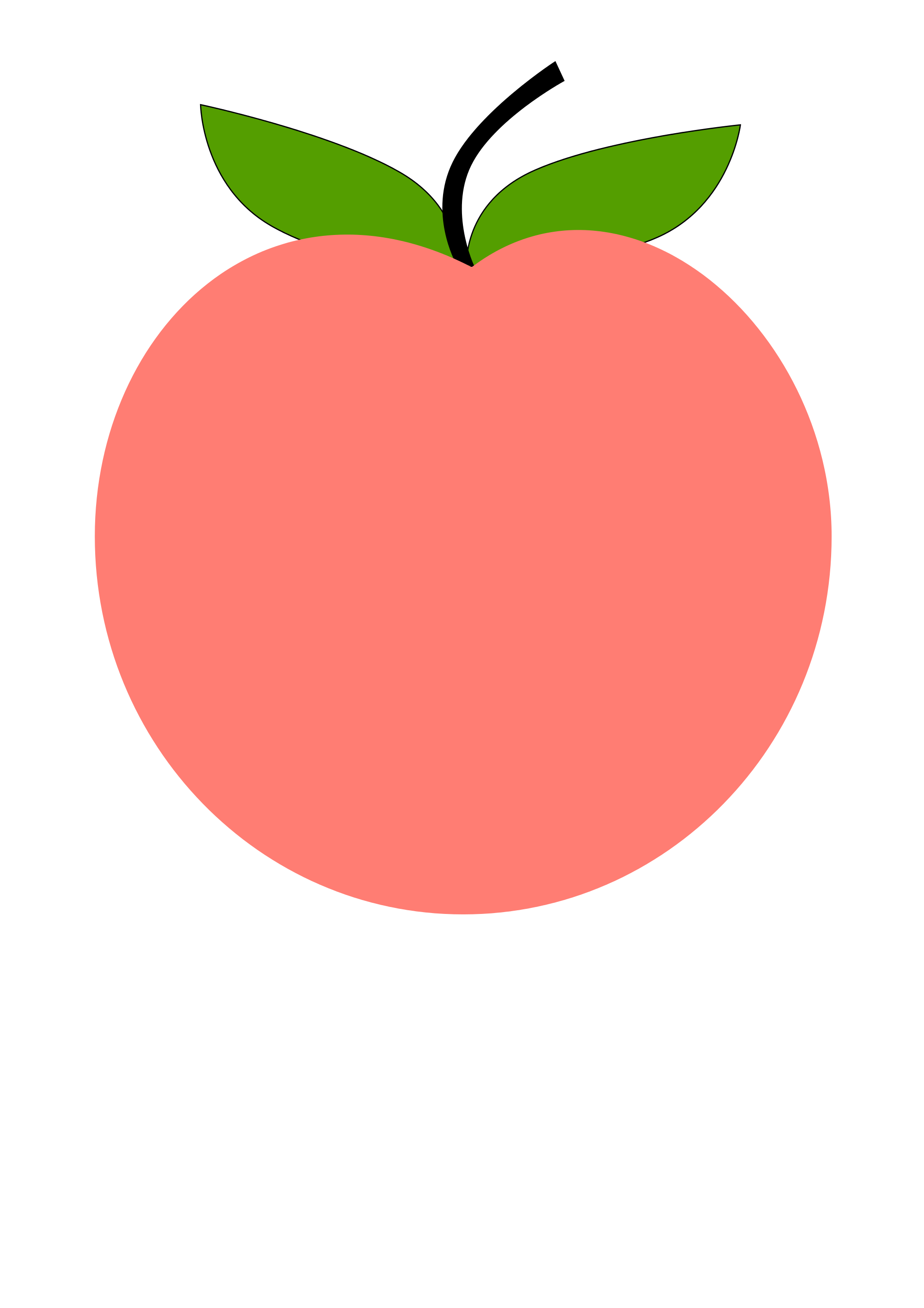 Peach svg. File tux paint wikimedia