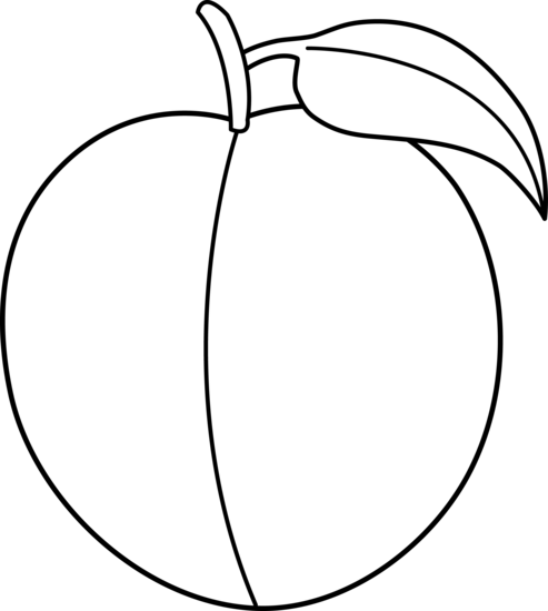 Peaches clipart black and white. Peach free images clipartix