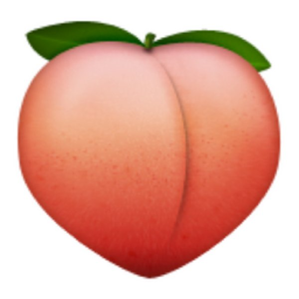 Peaches clipart emoticon. Peach emoji