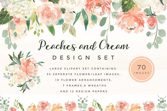peaches clipart wedding