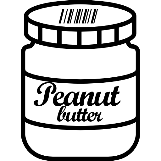 Peanut butter jar png. Free food icons icon