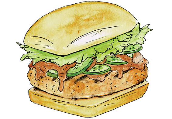 Peanut butter jelly png. Thai chicken burgers