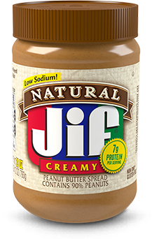 Peanut transparent big. Natural butter spread and