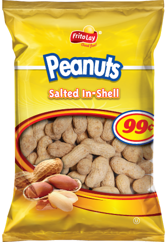 Peanuts transparent bag. Munchies honey roasted fritolay