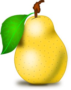 Pear clipart vector. Free cliparts download clip