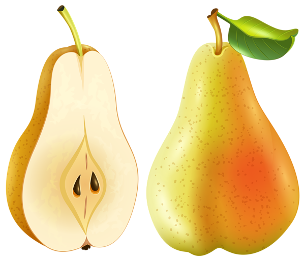 Pear clipart yellow pear. Transparent png clip art