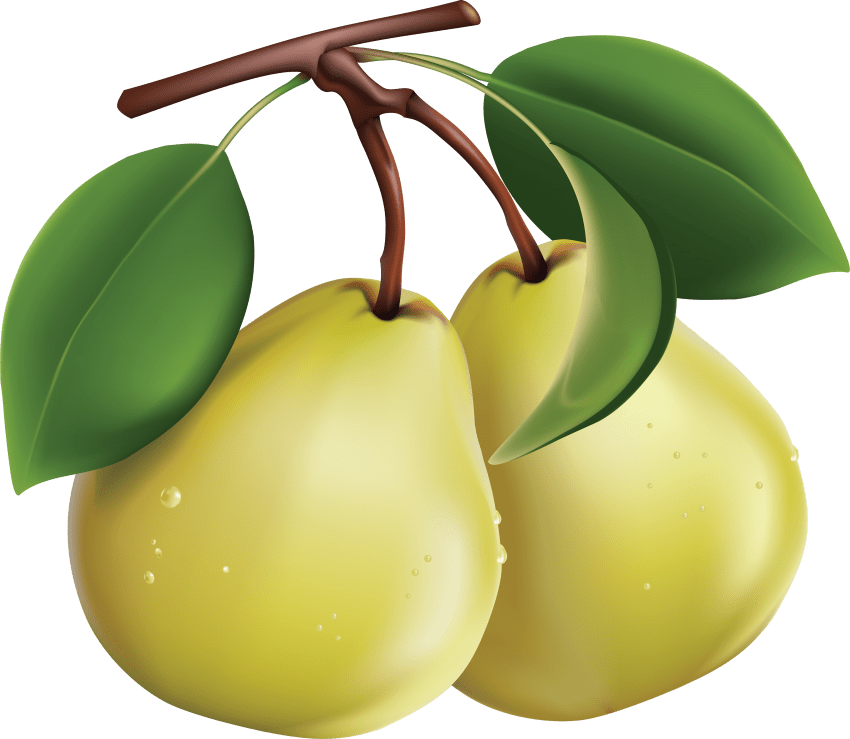 green pear png