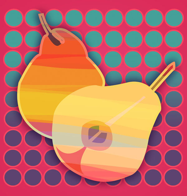 Pear clipart pop art. Fresh from the dairy