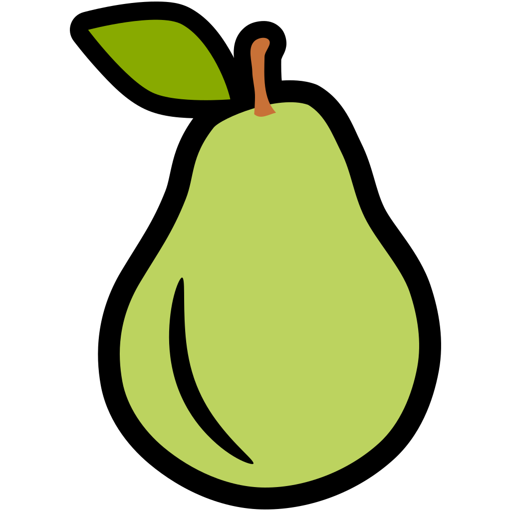 Pear clipart pop art. Icon images gallery for