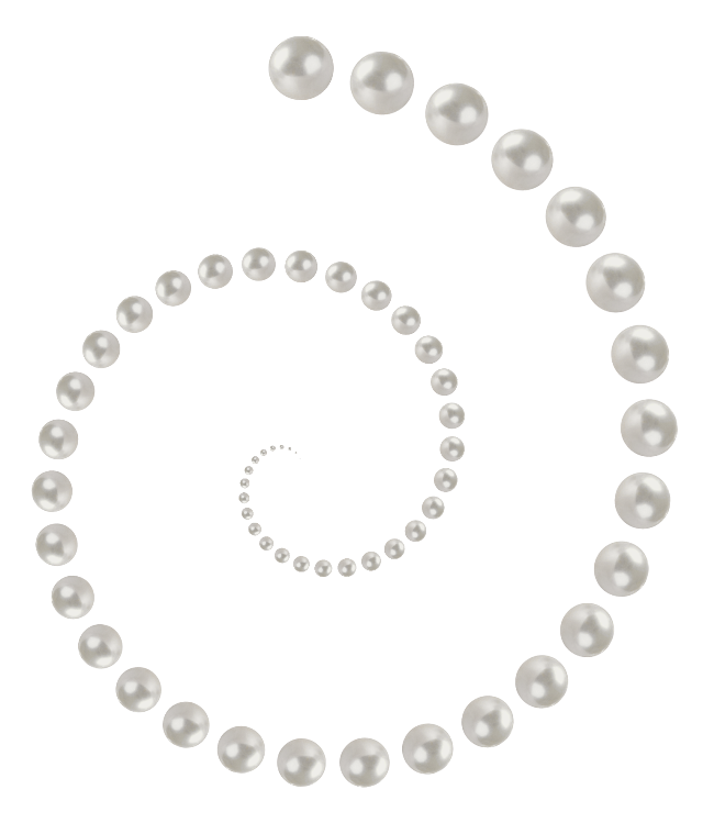 Pearls transparent. Pearl string png image