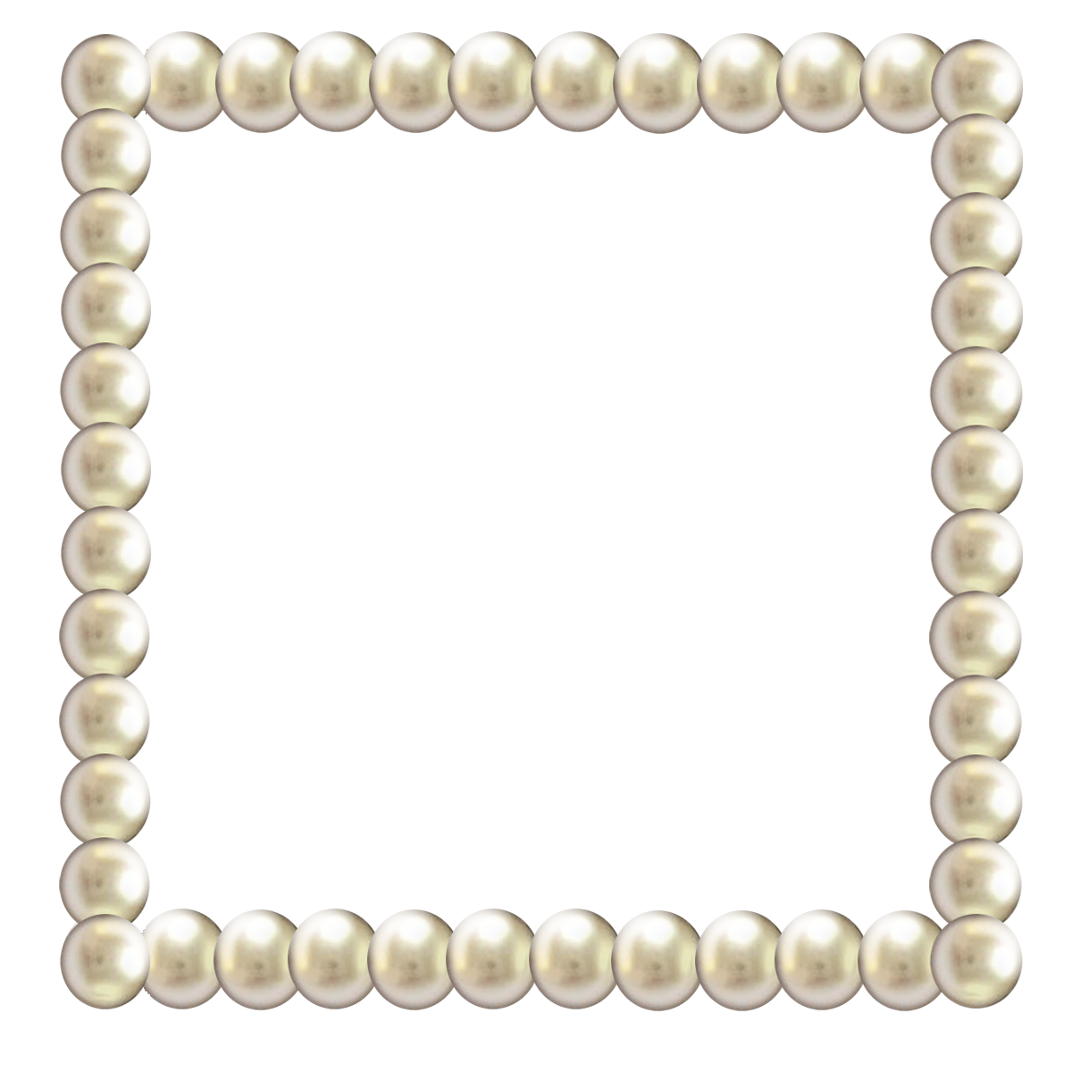 Transparent pearls border. Pearl frames table pictures