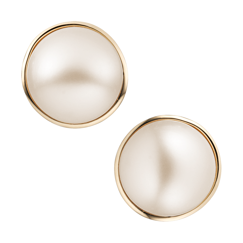 Pearl buttons png. Best button earrings photos