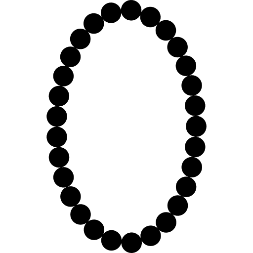 Necklace oval frame shape. Transparent pearls svg clipart royalty free stock