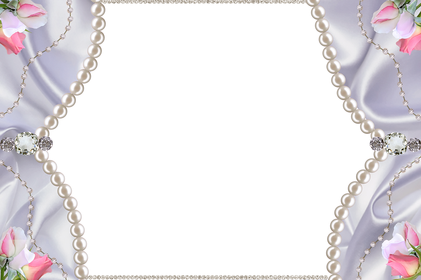 Pearl clipart diamonds and pearl. Delicate png photo frame