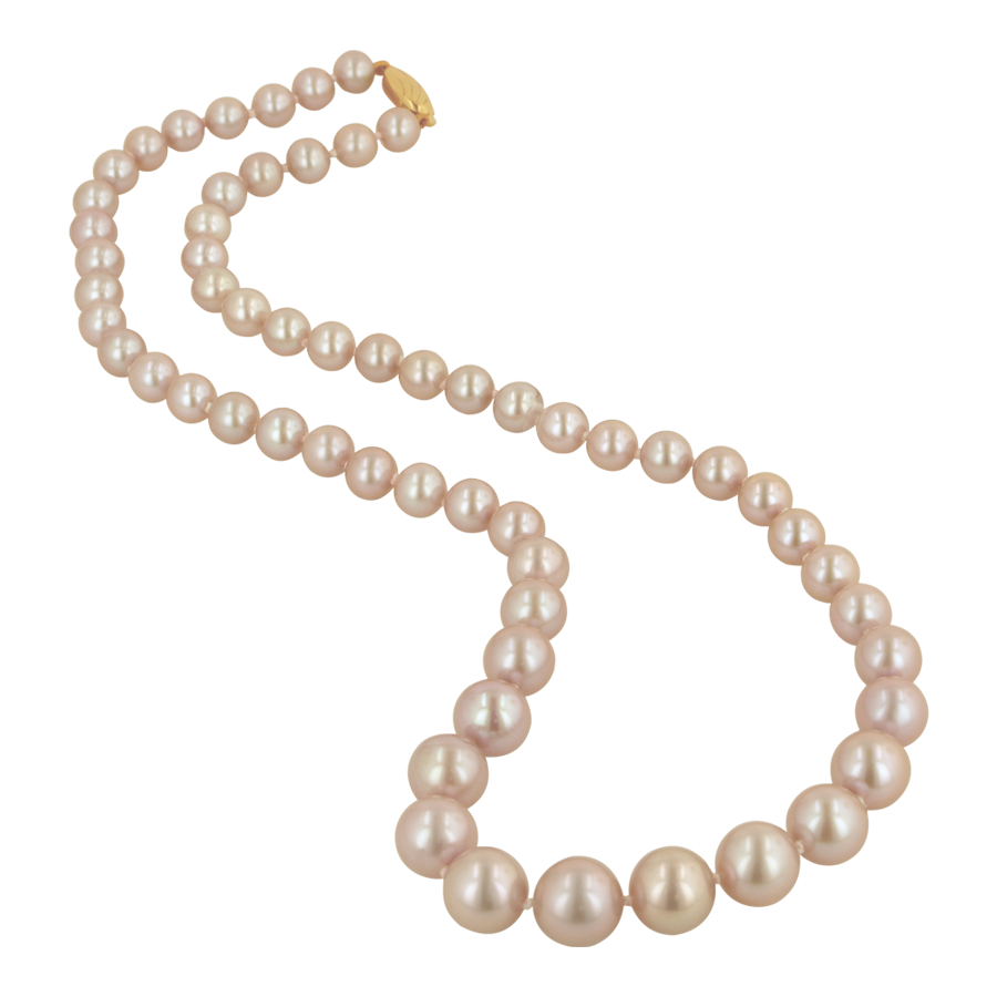 transparent pearls pink