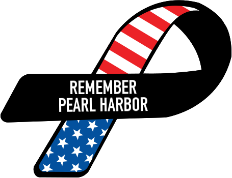 Pearl harbor png. Custom ribbon remember