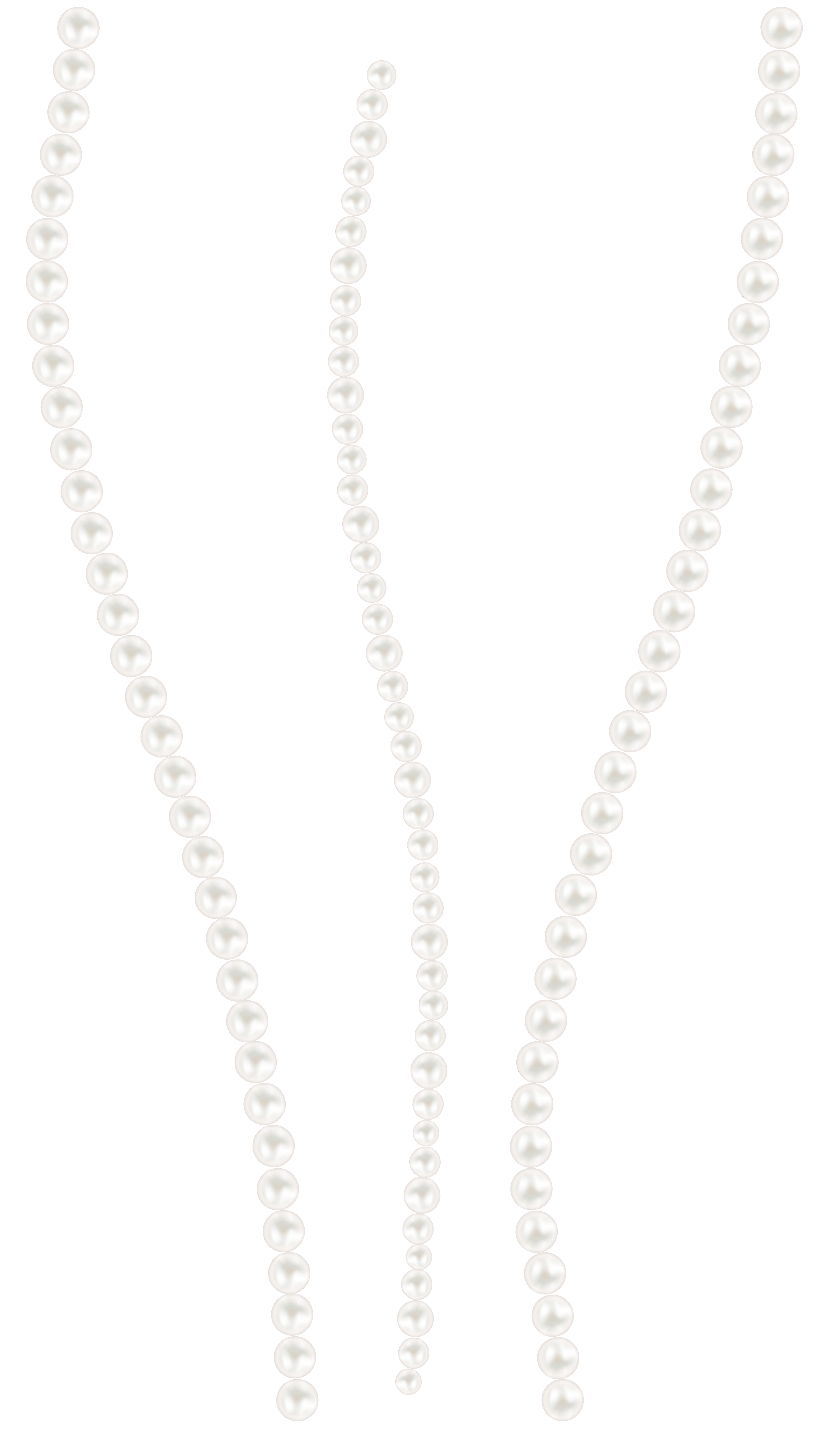 Transparent pearls full body. Pearl decor png clip